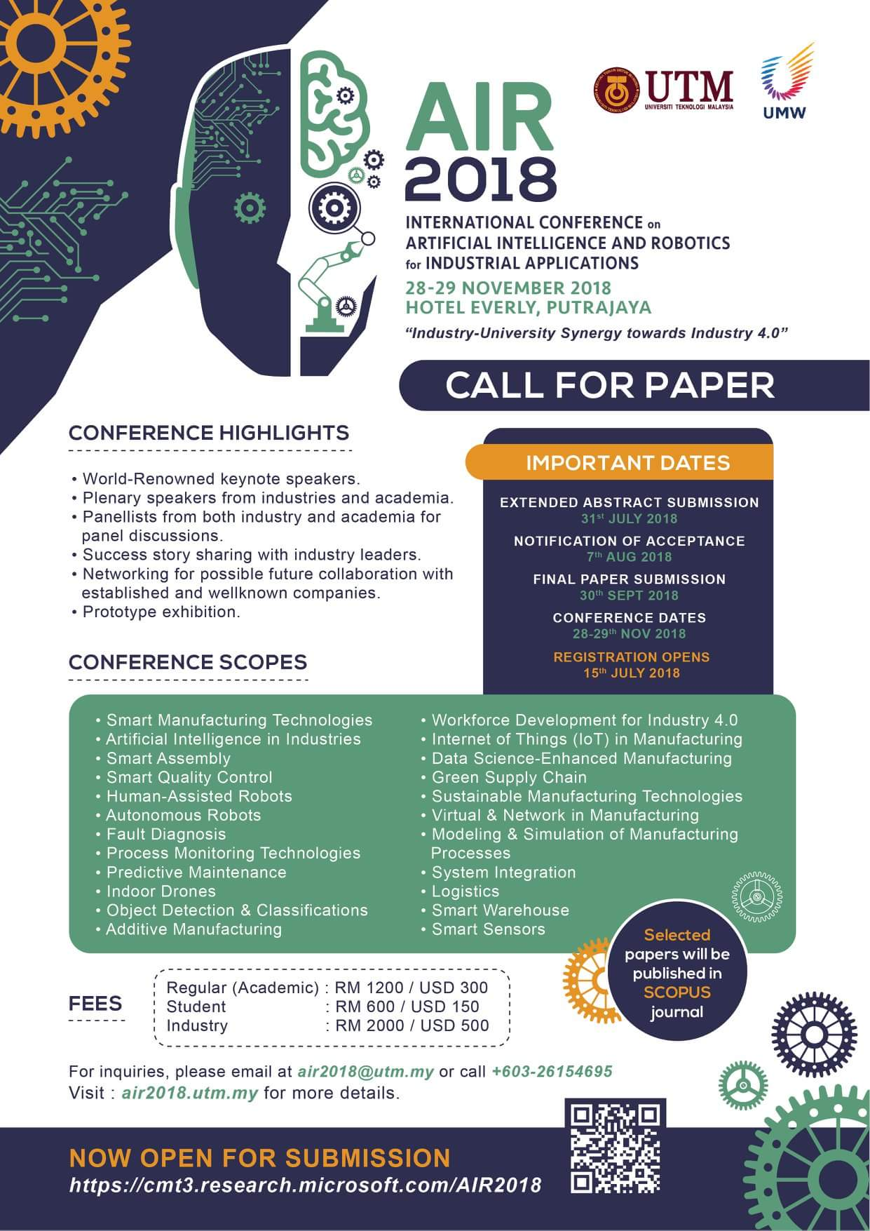 Last date for AIR2018 abstract submission