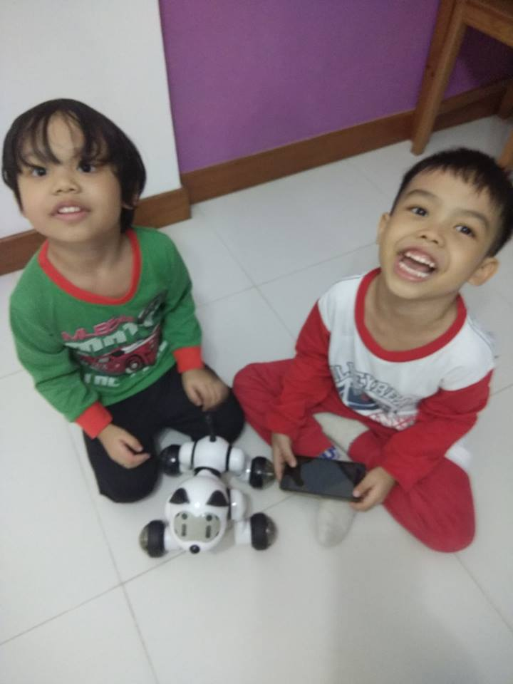 Sophia & Indra with Zuno Robot